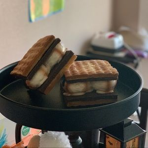Kurt Adler Holiday - Faux S'mores for tiered tray pair with Rae Dunn